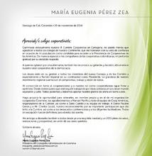 Carta agradecimiento