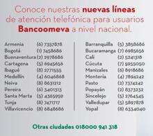 LÍNEAS BANCO