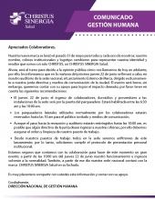 Comunicado Gestión Humana-16junio