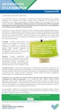 COMUNICADO DE LA GERENCIA OCT27