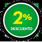 2% DE DCTO.