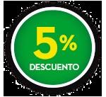 5% DE DCTO.