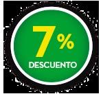 7% DE DCTO.