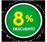 8% DE DCTO.