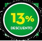 13% DE DCTO.