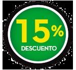 15% DE DCTO.