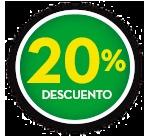 20% DE DCTO.