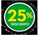 25% DE DCTO.