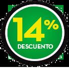 Botón 14% de descuento