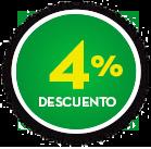 Botón 4% de descuento