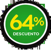 64 % de descuento