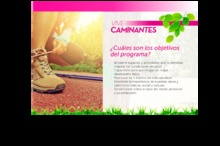 Objetivos del programa Vive Caminantes