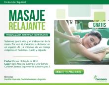 Masaje Relajante GRATIS_Viernes 13 de julio