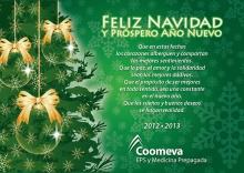 Tarjeta Navidad virtual Coomeva EPS y MP