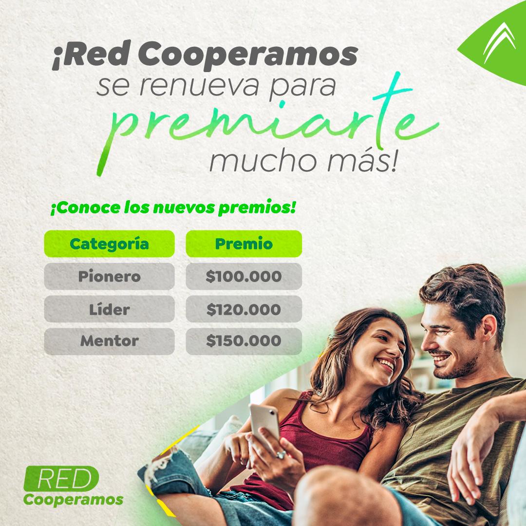 ¡Red Cooperamos se renueva para premiarte mucho más!