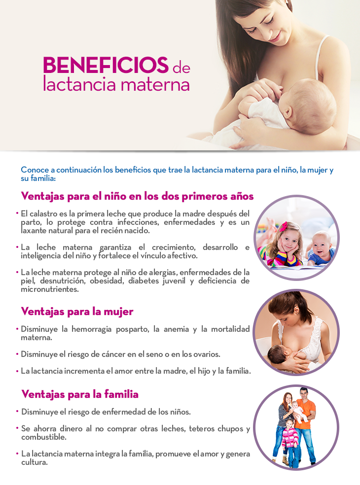 Beneficios de lactancia materna
